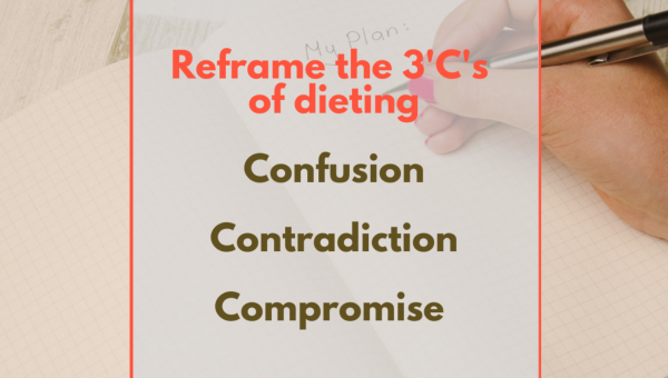 Reframe the 3Cs of dieting