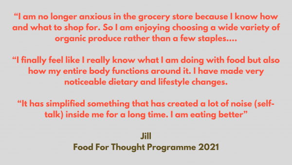 Testimonial Food for Thought Programme