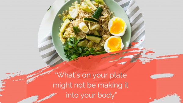 What's on your plate quote and plate of food